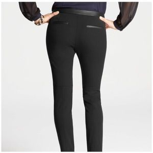 Ann Taylor Pants - Ann Taylor Downtown Leather Trim Ankle Pants A